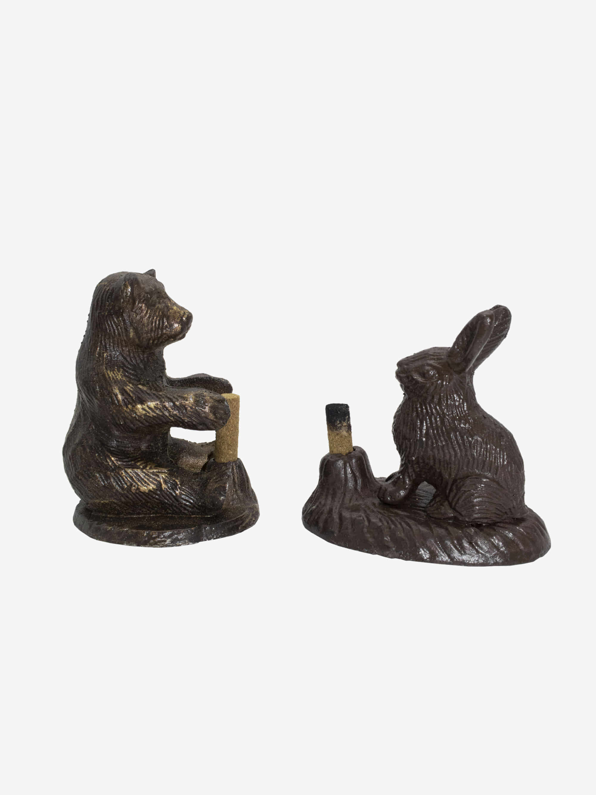 Brass Rabbit Incense Holder