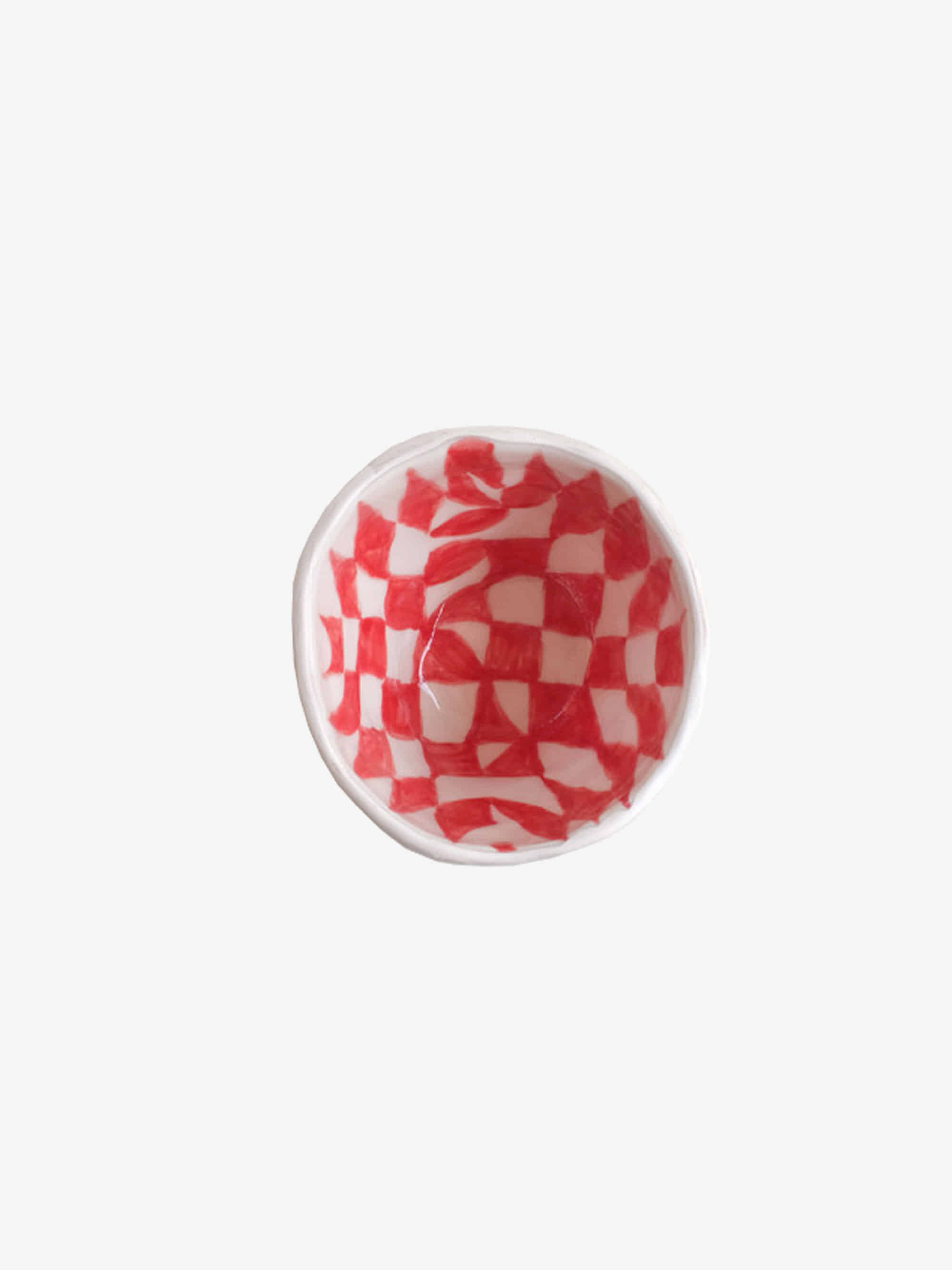 Red Checkerboard Bowl