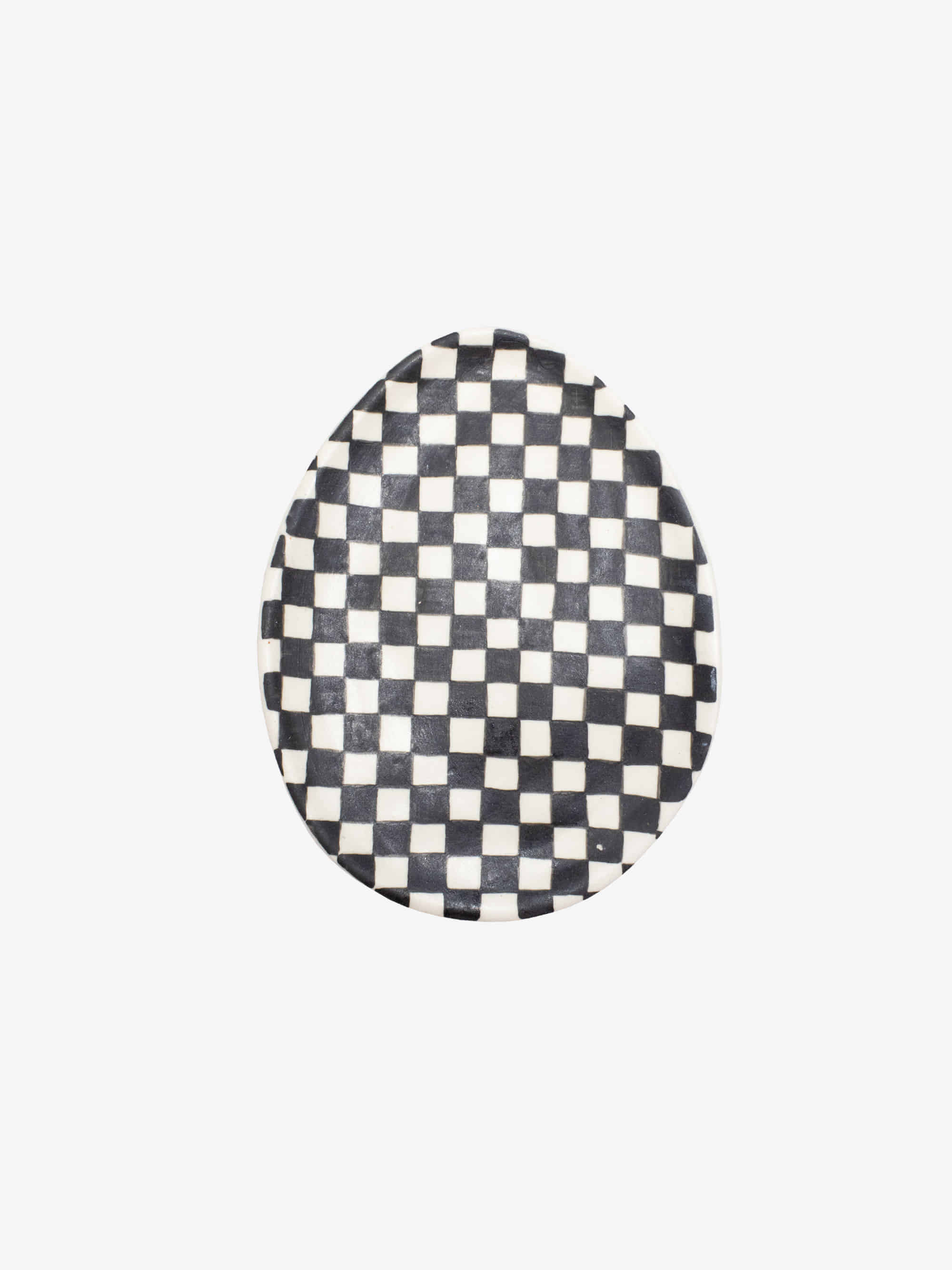 Black Checkerboard Egg Dish M