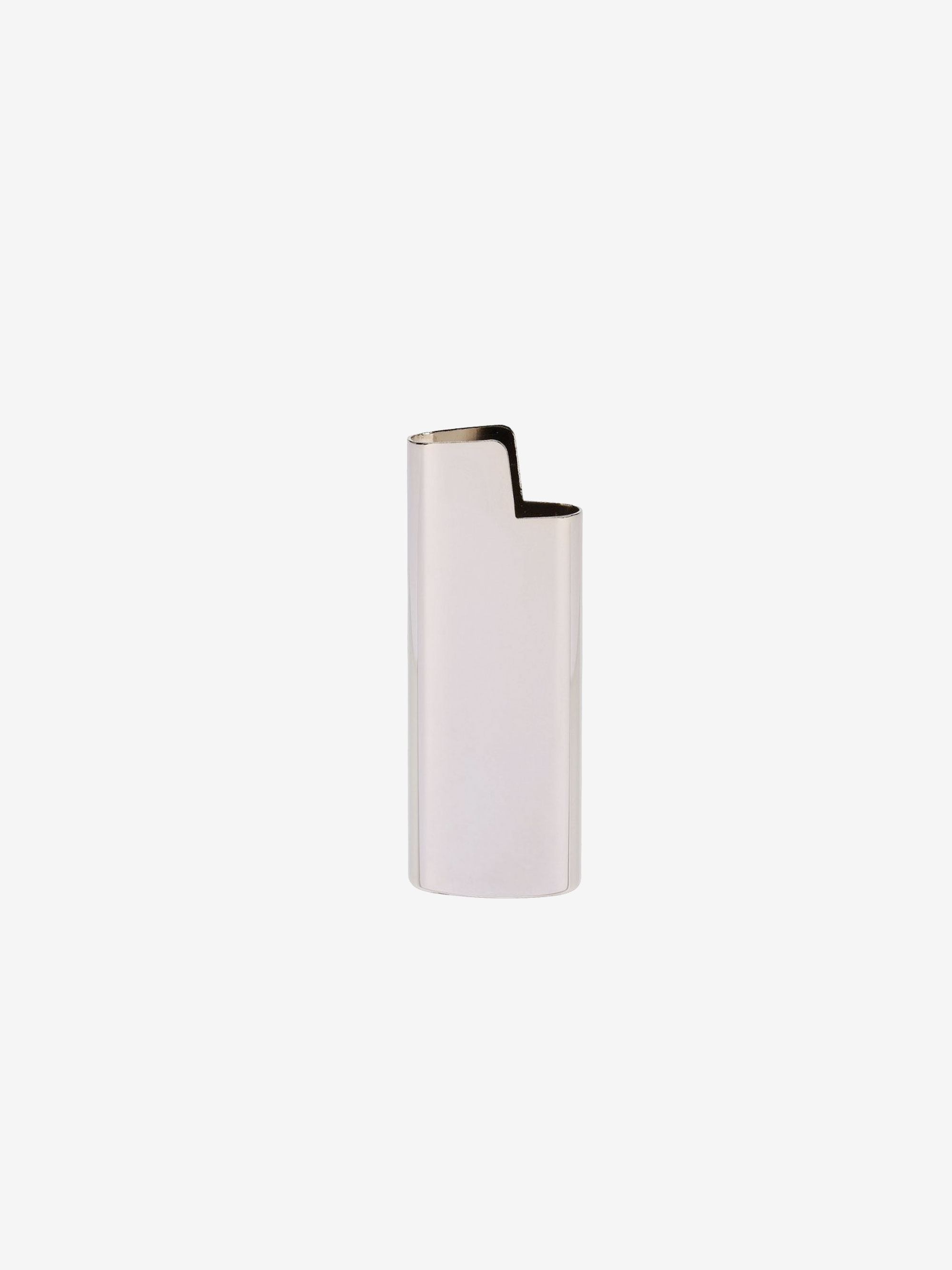 Mini BIC Lighter Holder Silver