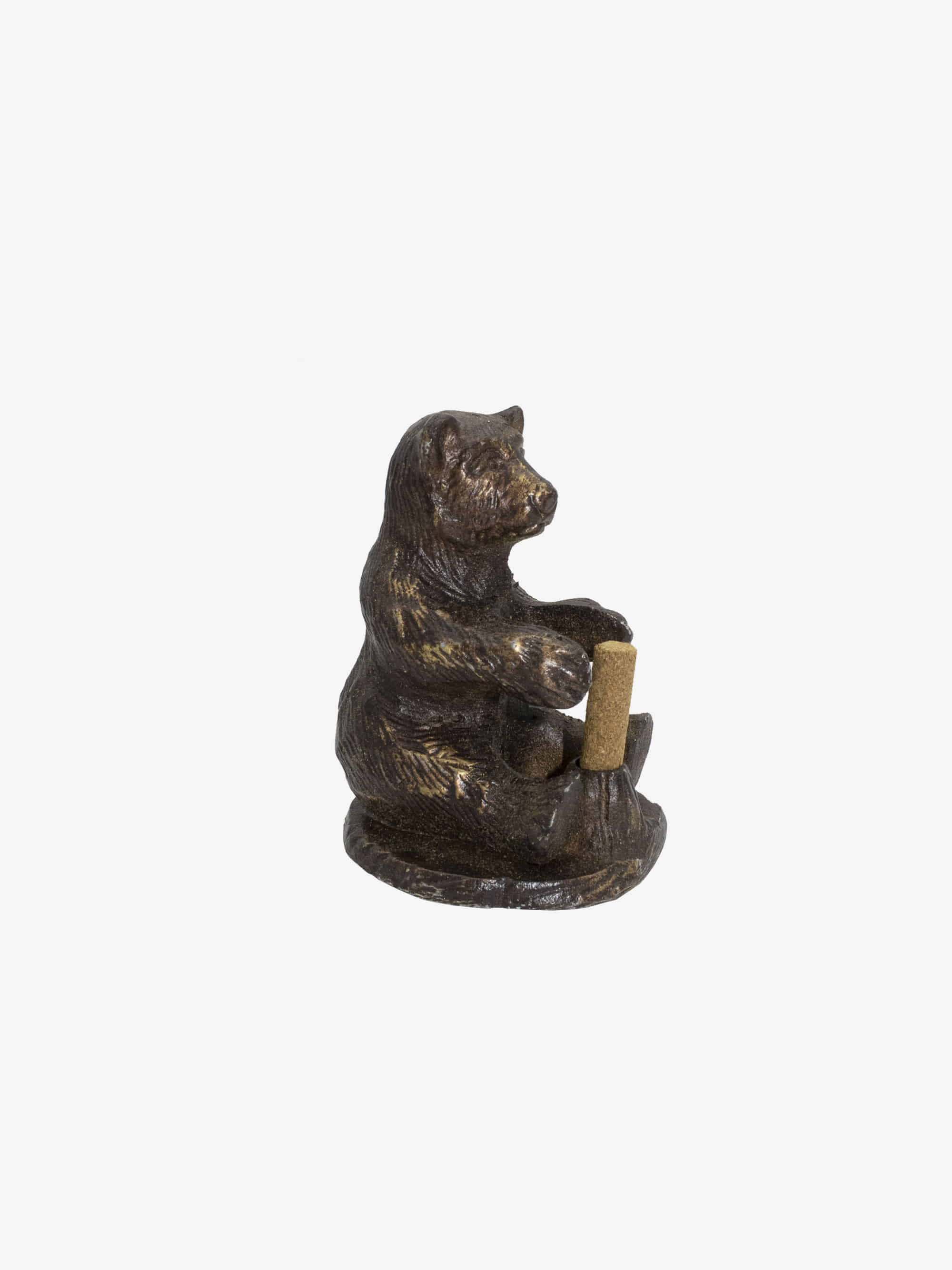 Brass Bear Incense Holder