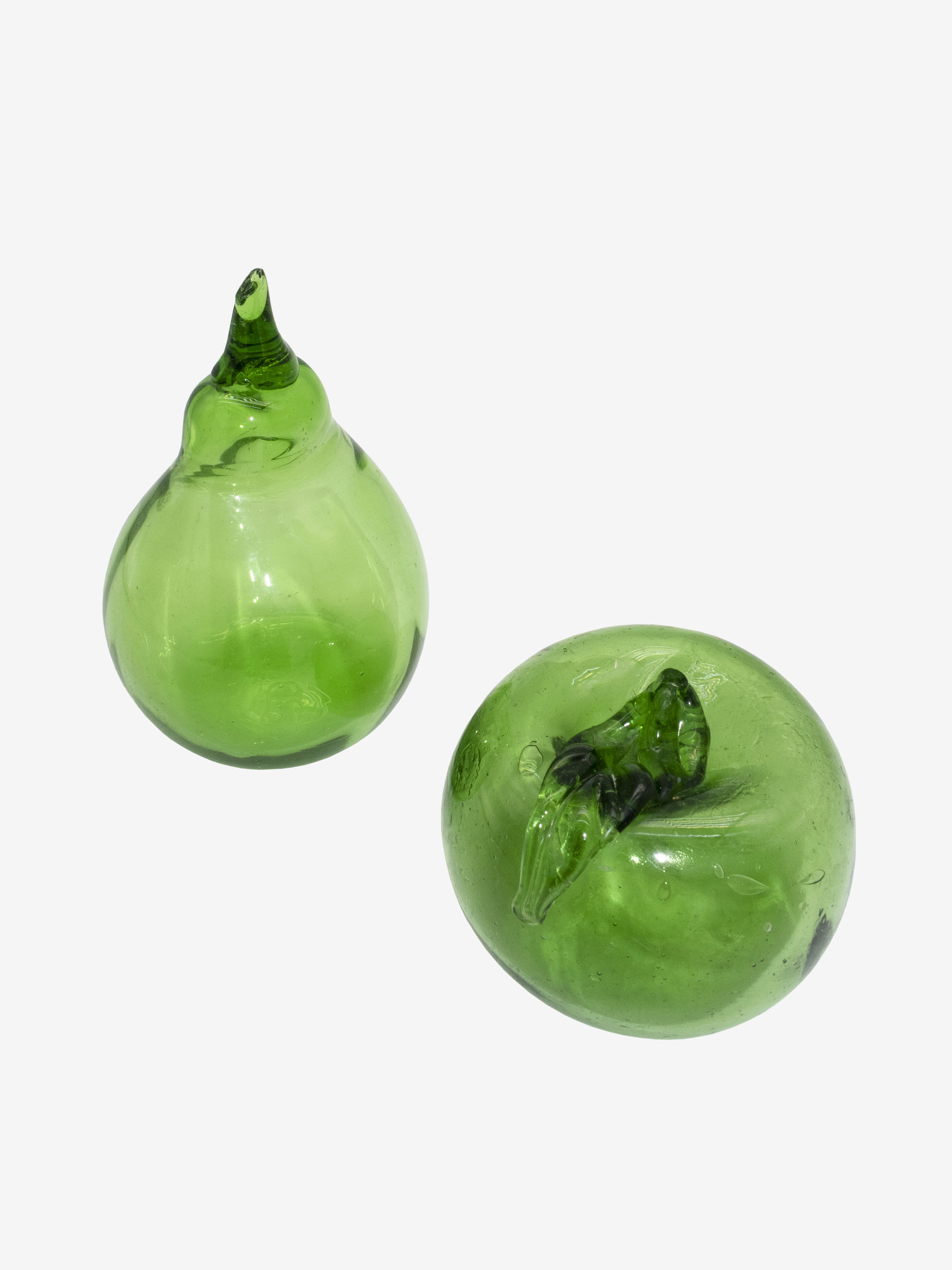 Green bubble Glass Tomato & Pear
