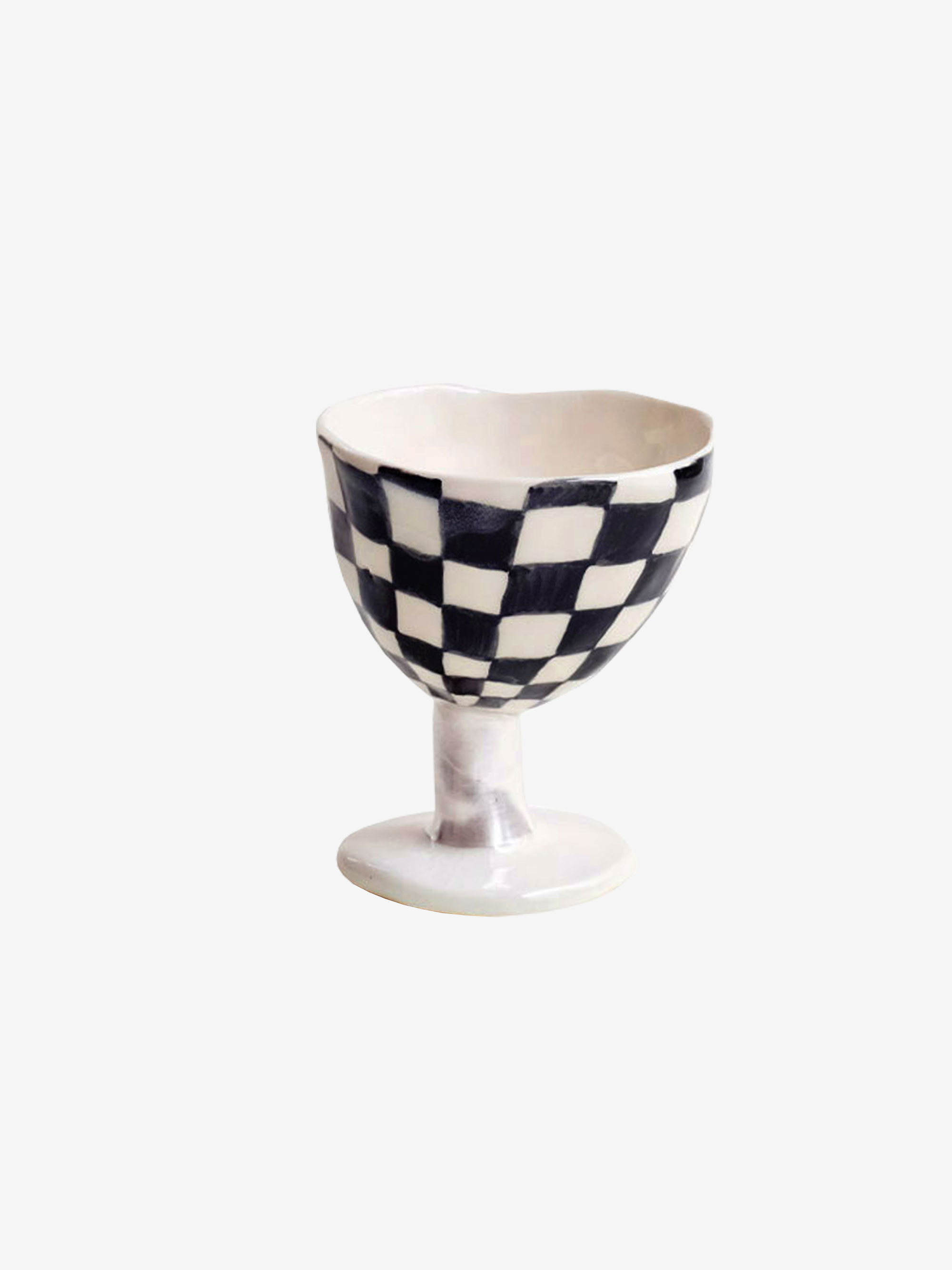 Black Checkerboard Bowl